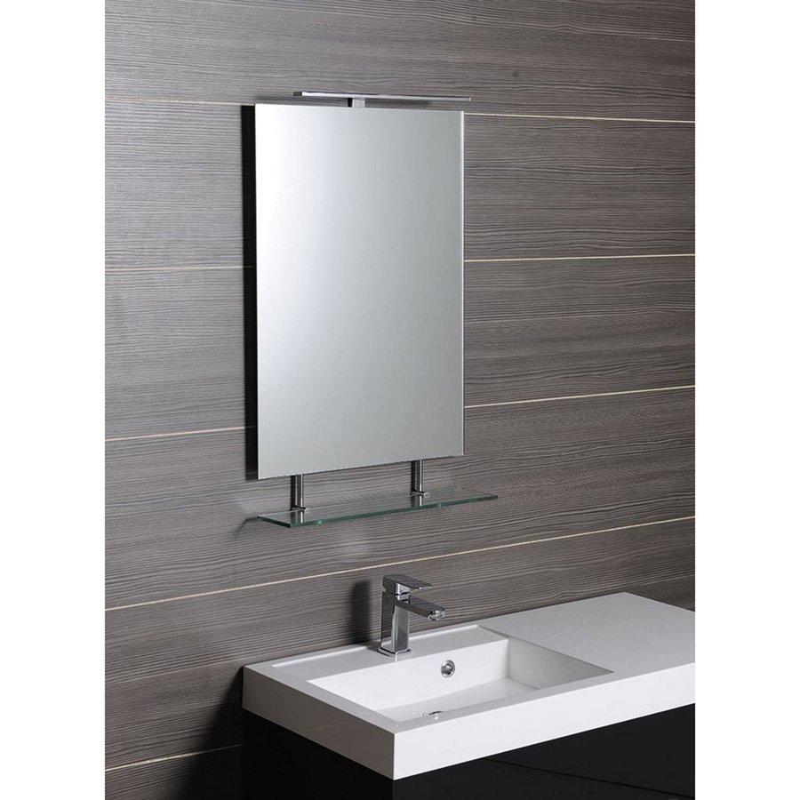Badkamerspiegel Sapho Wega 70x80 cm met Planchet Glas
