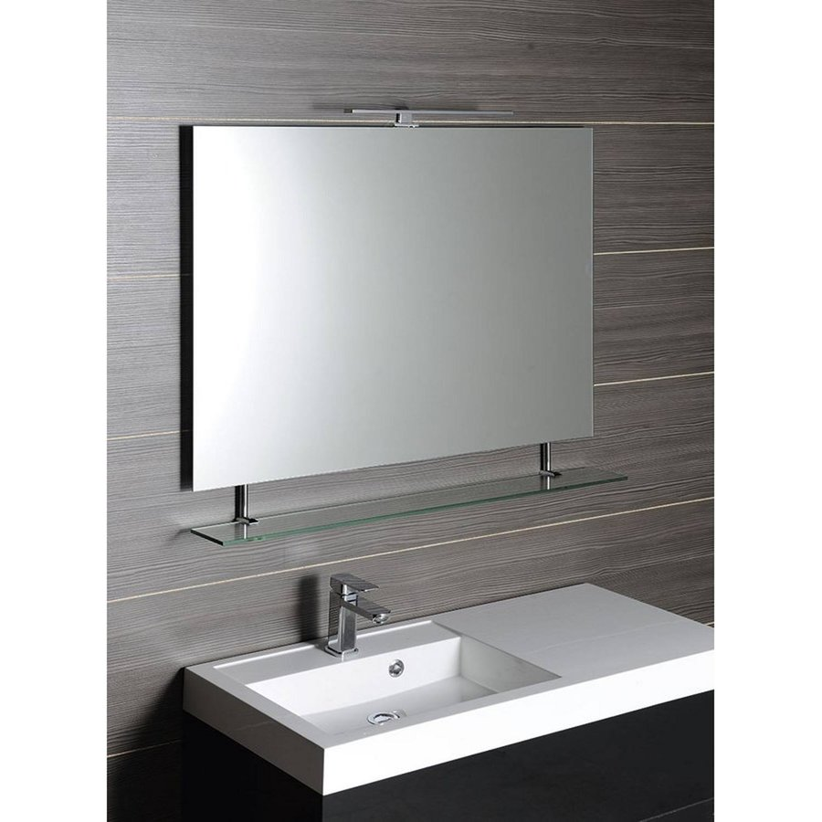 Badkamerspiegel Sapho Wega 90x80 cm met Planchet Glas