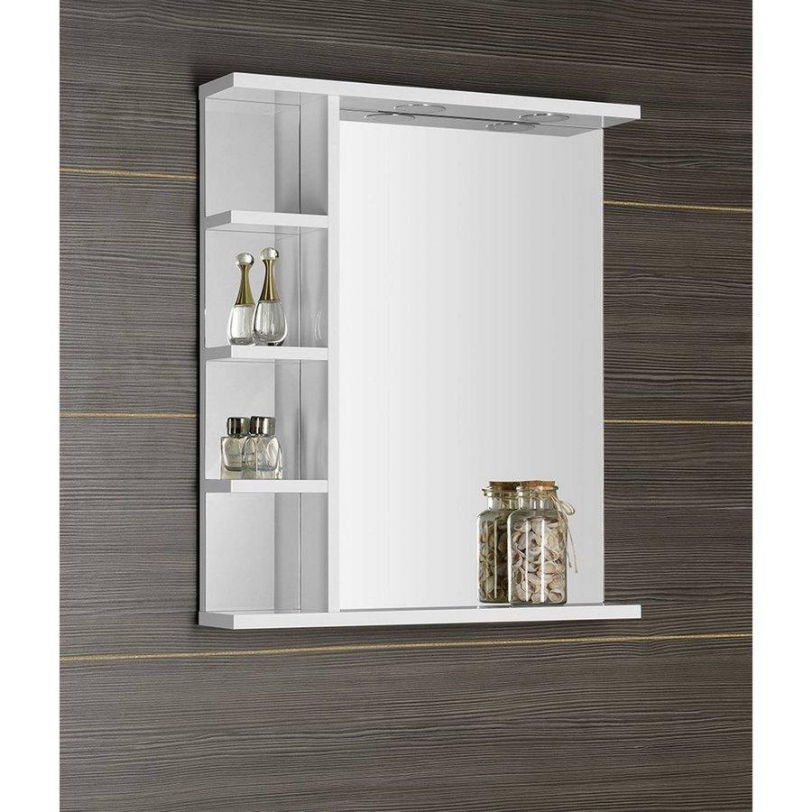 Badkamerspiegel Sapho Korin 60x70x12 cm Incl. LED Verlichting en Planken