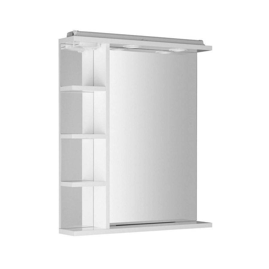 Badkamerspiegel Sapho Korin 60x70x12 cm Incl. LED Verlichting, Planken en Stopcontact