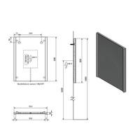 Badkamerspiegel Sapho Alix 45x60x5 cm LED-Verlichting Contactloze Sensor