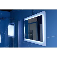 Badkamerspiegel Sapho Lorde 110x60 cm LED met Omlijsting Wit
