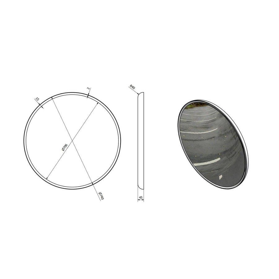 Badkamerspiegel Sapho Float 74 cm LED-Verlichting Frame Wit