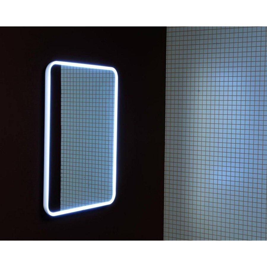 Badkamerspiegel Sapho Float 50x70 cm LED-Verlichting Frame Wit