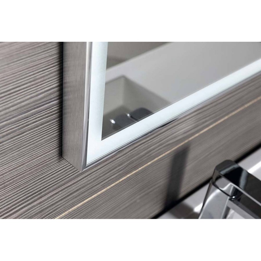 Badkamerspiegel Sapho Luminar 70.3x50.3 cm LED-Verlichting Frame Chroom