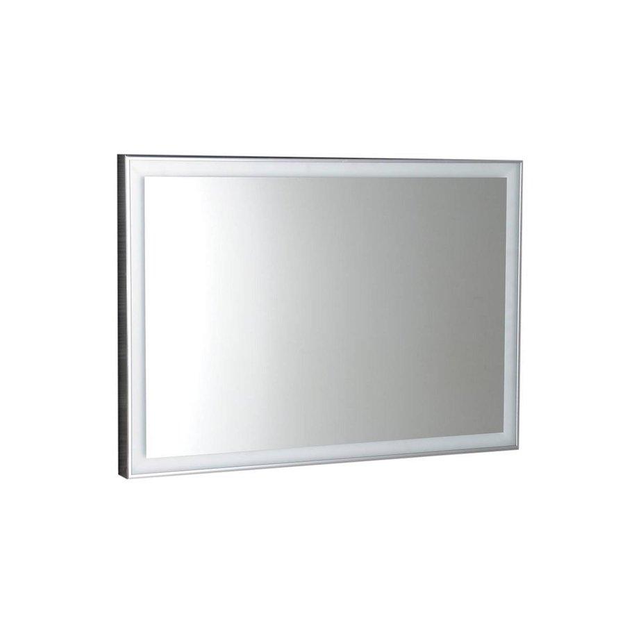 Badkamerspiegel Sapho Luminar 90.3x50.3 cm LED-Verlichting Frame Chroom