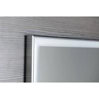Badkamerspiegel Sapho Luminar 120.3x55.3 cm LED-Verlichting Frame Chroom