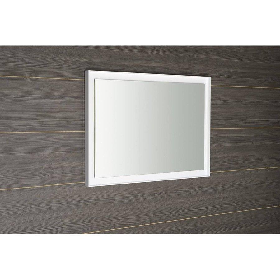 Badkamerspiegel Sapho Flut 100x70 cm LED-Verlichting Omlijsting Wit