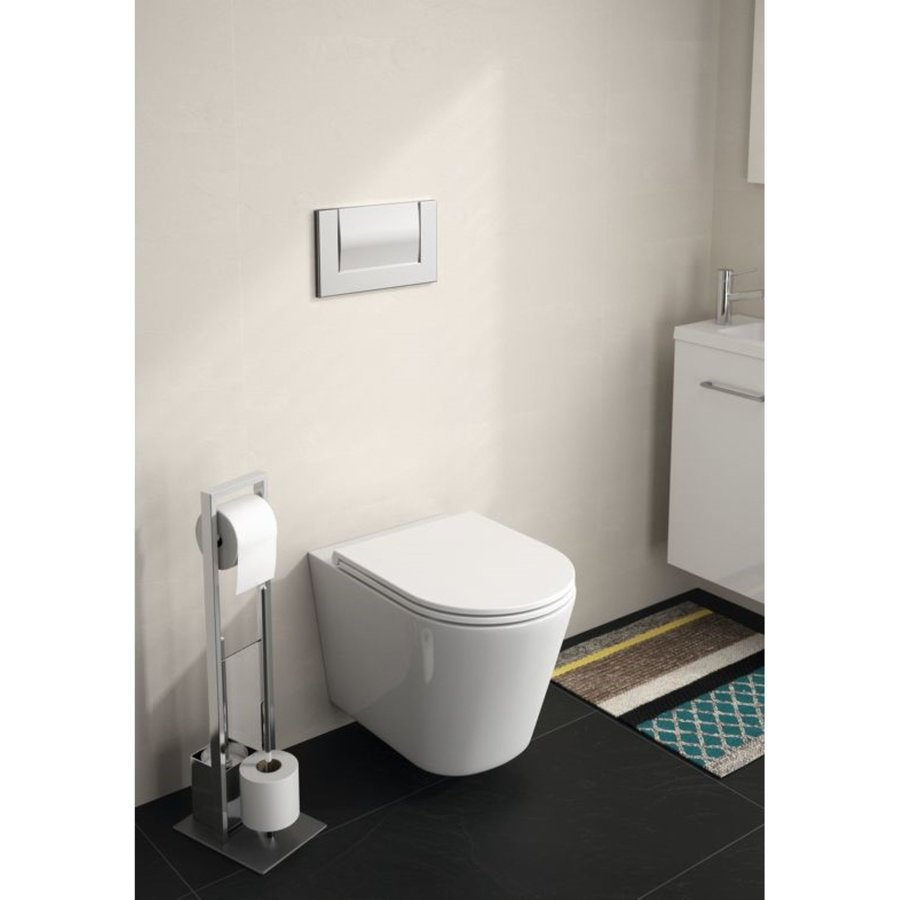 Allibert Toiletzitting Duneo 36,5x3,6x45 cm Glanzend Wit