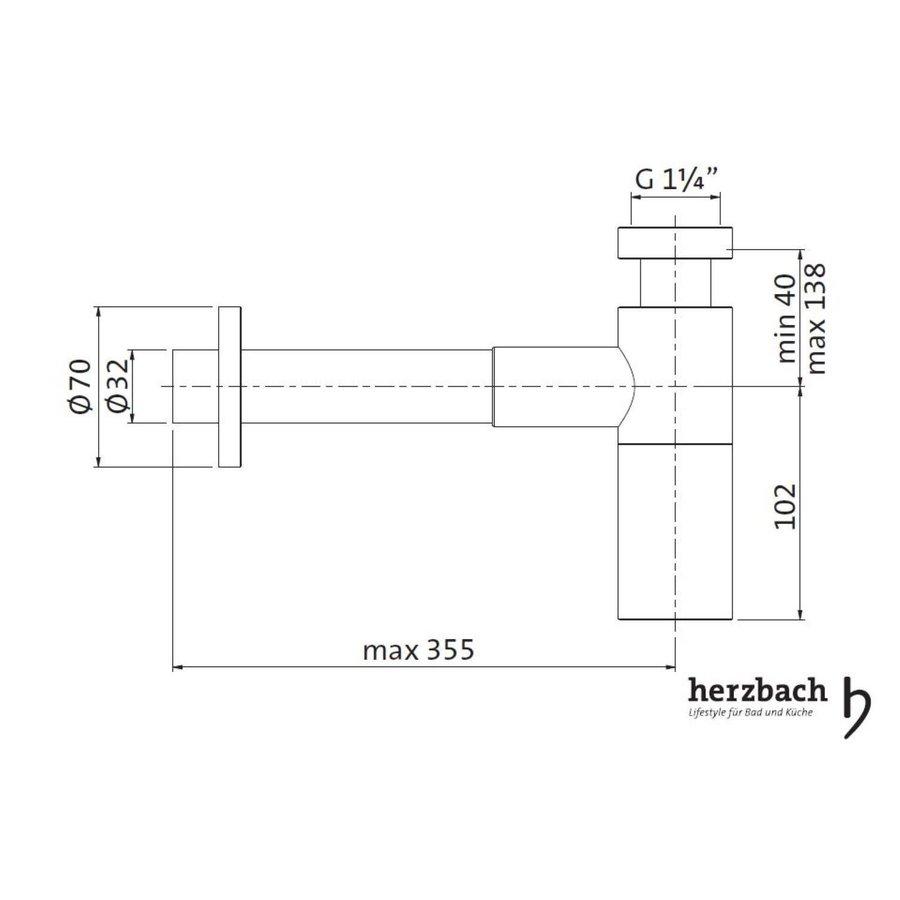 Bekersifon Herzbach Living IX 5/4'' Koper