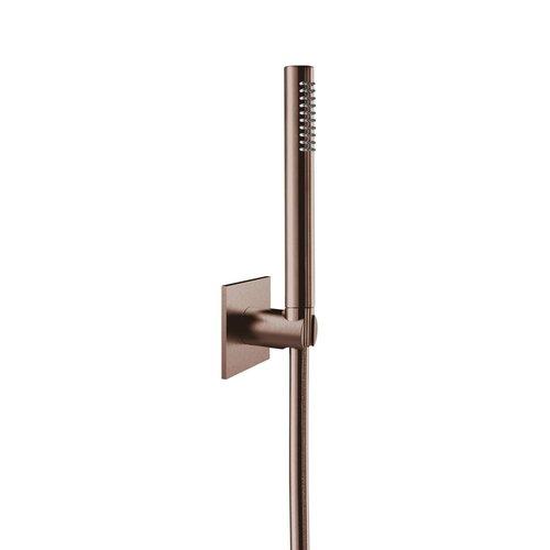 Badset Herzbach Living Spa PVD-Coating met Vierkant Rozet 160 cm Koper