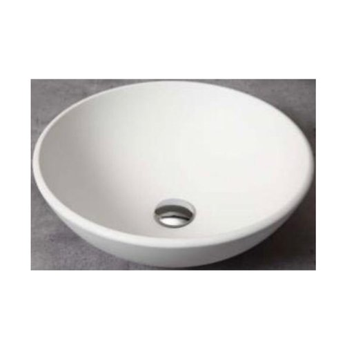 Ronde Waskom Boss & Wessing Per 42x14 cm Solid Surface Mat Wit