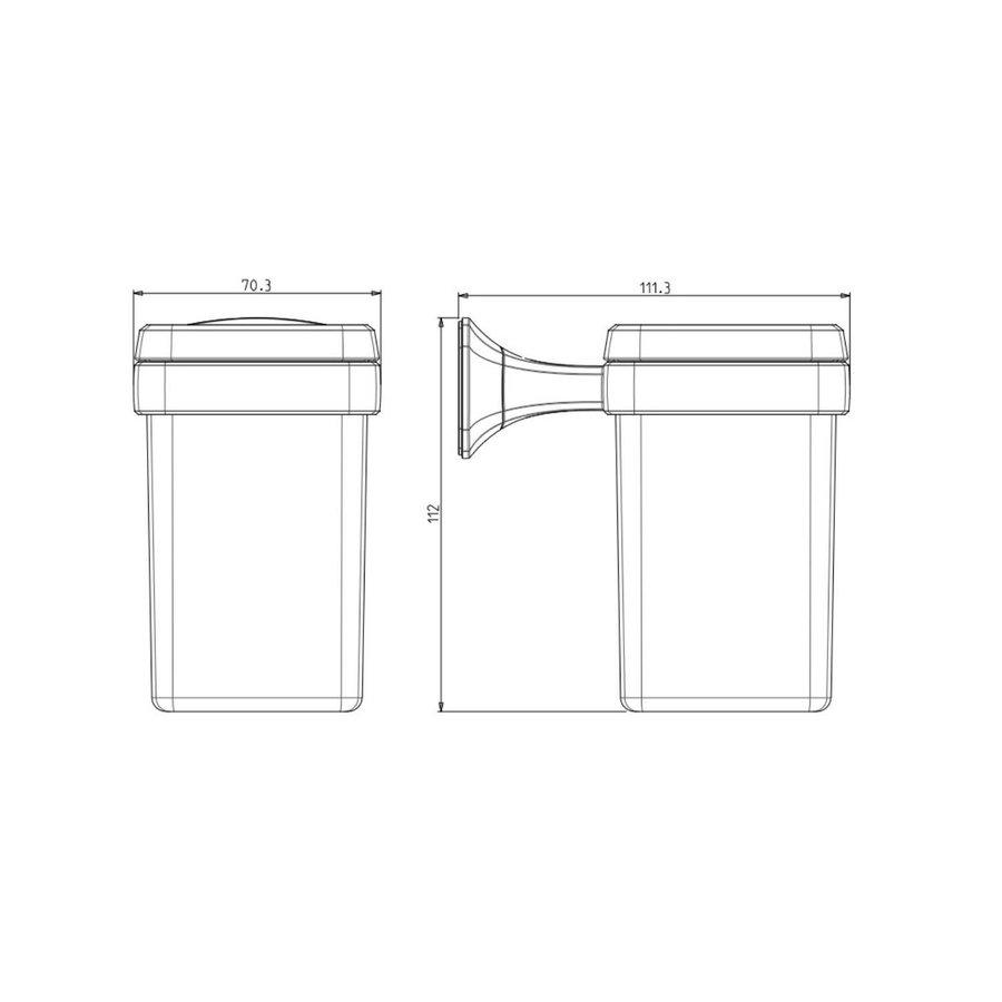 Bekerhouder Sapho Aida Hangend 7x11.2 cm Chroom / Satijnglas