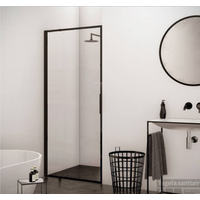 BWS Nisdeur Recta 90x200 cm 8 mm NANO Glas Mat Zwart Profiel