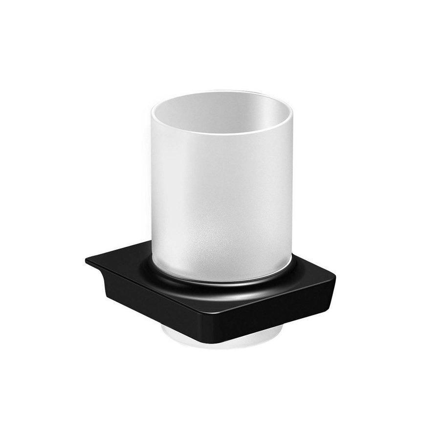 Bekerhouder Sapho Zen Black Hangend 8.2x10.5 cm Zwart / Melkglas