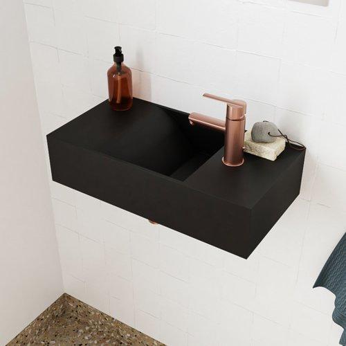 Fontein Salenzi Arro 50x26 cm Mat Zwart Rechts