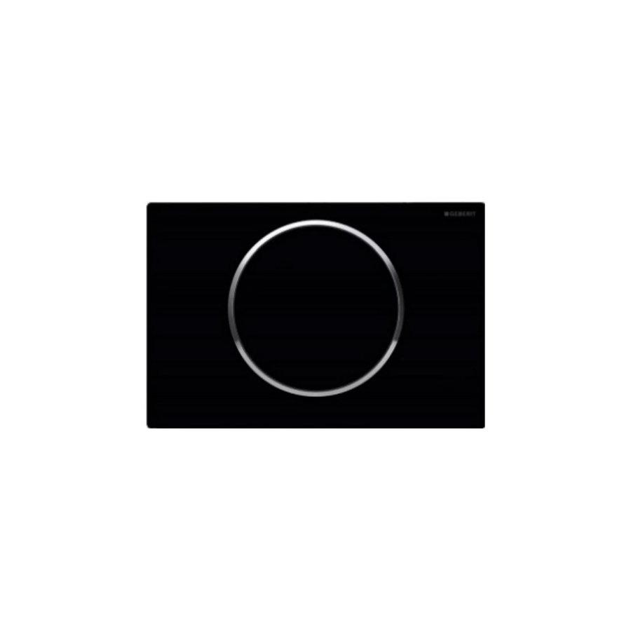 Bedieningsplaat Geberit Sigma 10 + DuoFresh Geurzuiveringssysteem Zwart
