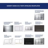 Bedieningsplaat Geberit Sigma 30 DF + DuoFresh Geurzuiveringssysteem Mat Zwart