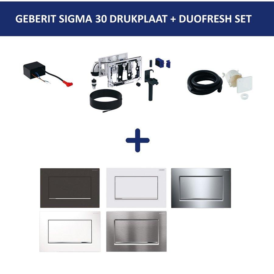 Bedieningsplaat Geberit Sigma 30 SF + DuoFresh Geurzuiveringssysteem Glansverchroomd