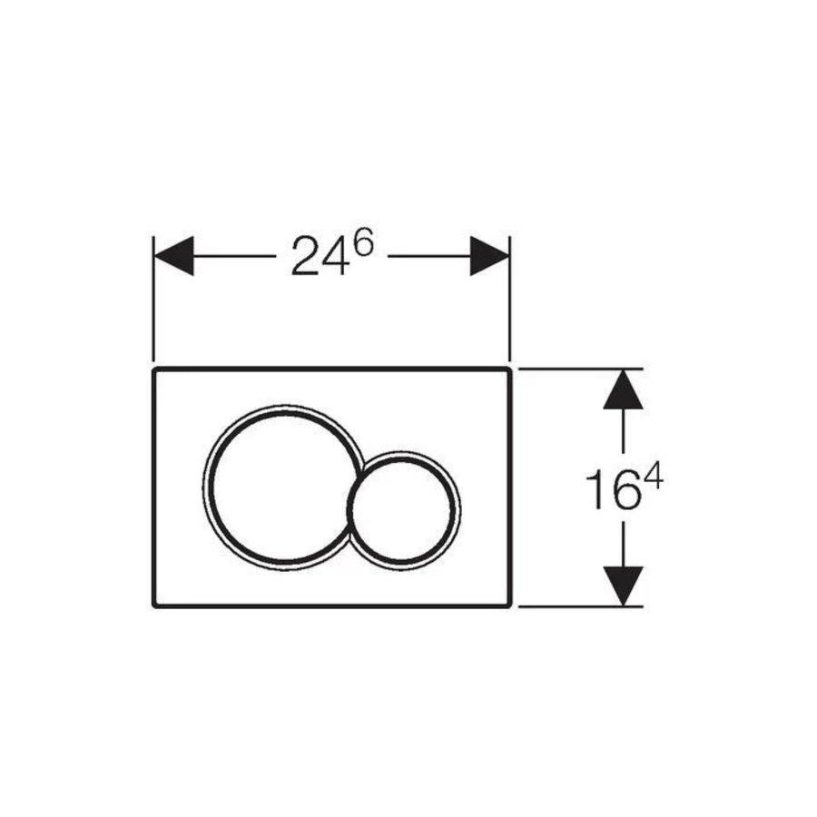 Bedieningsplaat Geberit Sigma 01 Frontbediening Black Chrome