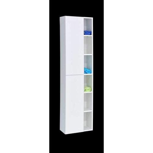 Huza kolomkast 40x30x170 cm glans-wit