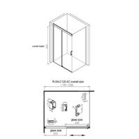 Douchecabine Aqua Splash Cuadro 120 cm Soft-Close Anti-Kalk Coating Chroom (zes varianten)