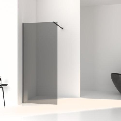 Inloopdouche Aqua Splash Slim Rookglas Anti-Kalk Coating Mat Zwart Profiel (zes varianten)