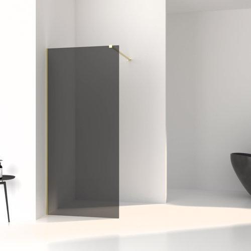 Inloopdouche Aqua Splash Slim Rookglas Anti-Kalk Coating Yellow Titanium Profiel (zes varianten)
