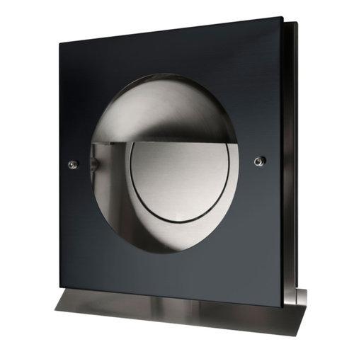 Overdruk Ventilatierooster Kappa 15 cm Mat Zwart