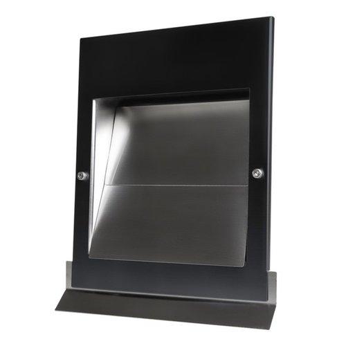 Overdruk Ventilatierooster Sigma 12.5 cm Mat Zwart