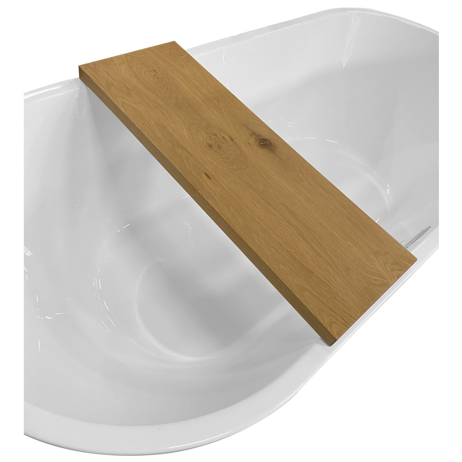 Badplank Boss & Wessing Wood Strak Design 80x20x3 cm Badrek Eikenhout