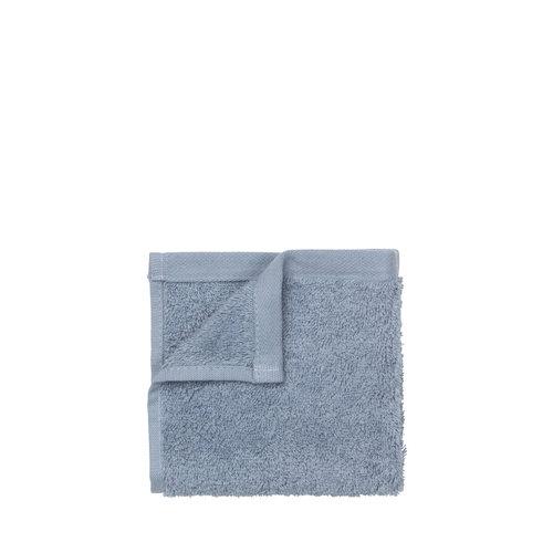 Gastendoekjes Blomus Riva 30x30 cm Organisch Katoen Ashley Blue (set van 4 stuks)