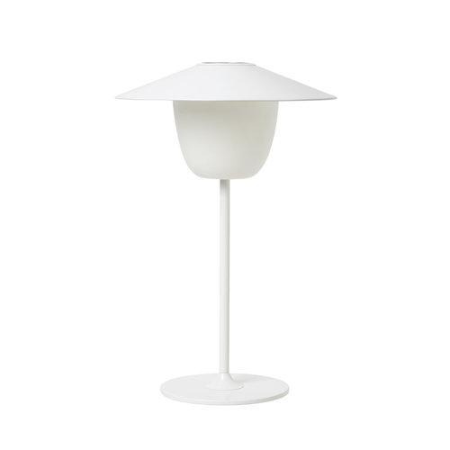 Mobiele LED Verlichting Blomus Ani Spatwaterdicht Aluminium Wit