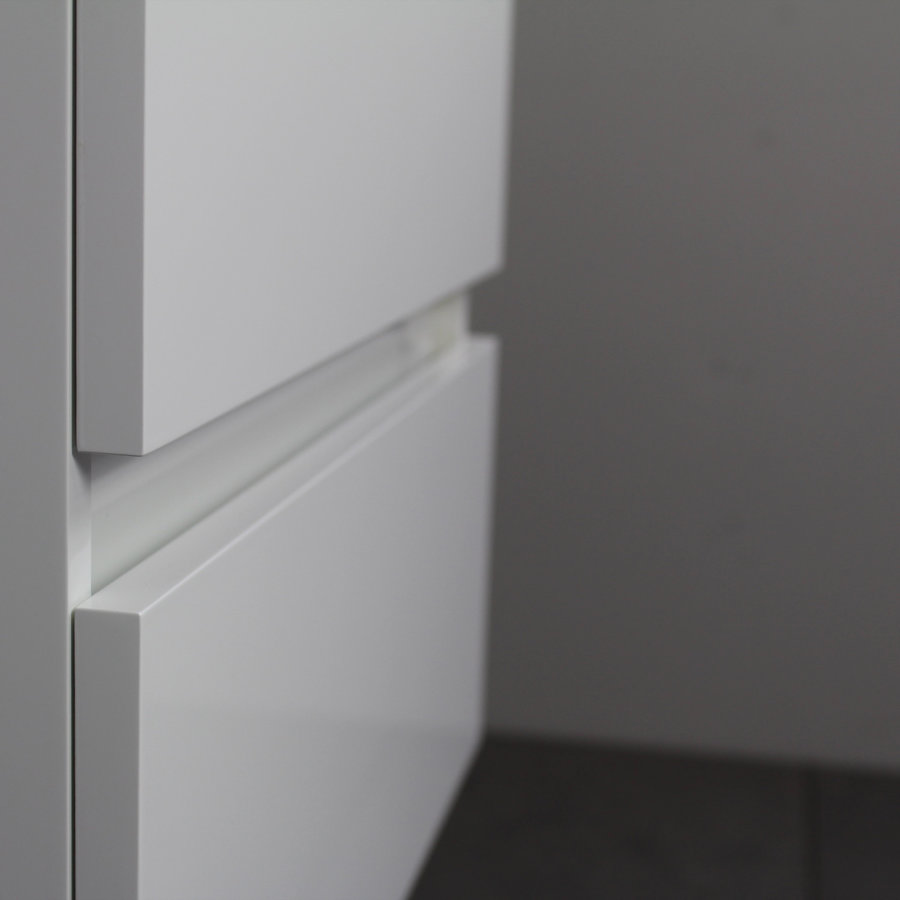 Badkamermeubel Boss & Wessing Pepper Acryl Wastafel Zonder Kraangat Inclusief Spiegel 60x55x46 cm Wit