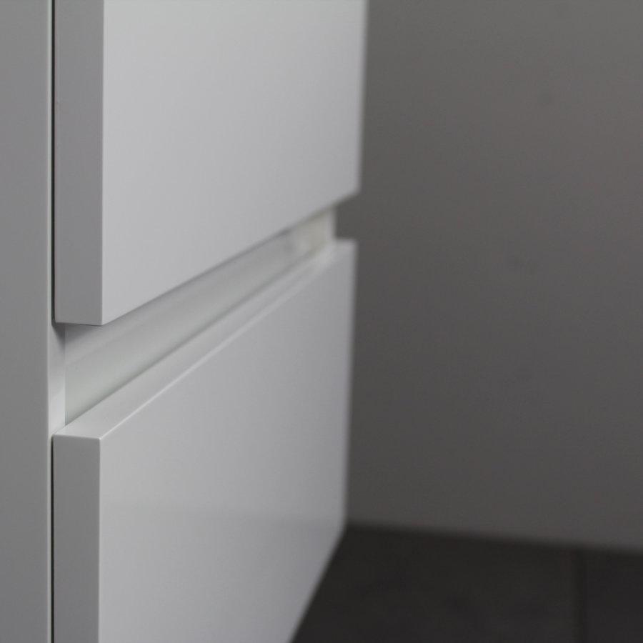 Badkamermeubel Boss & Wessing Pepper Wastafel Porselein Incl Spiegel En Kraangat 60x55x46 cm Wit