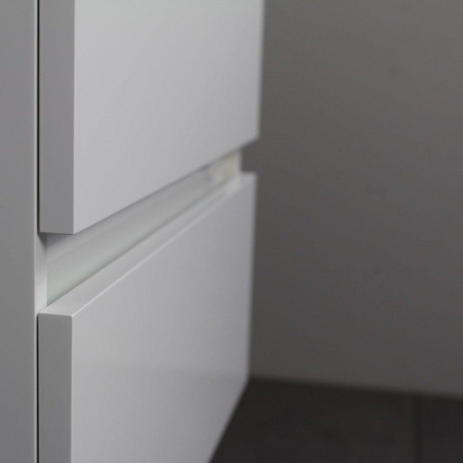 Badkamermeubel BWS Pepper Wastafel Acryl Incl Spiegelkast Met Kraangat 60x55x46 cm Wit