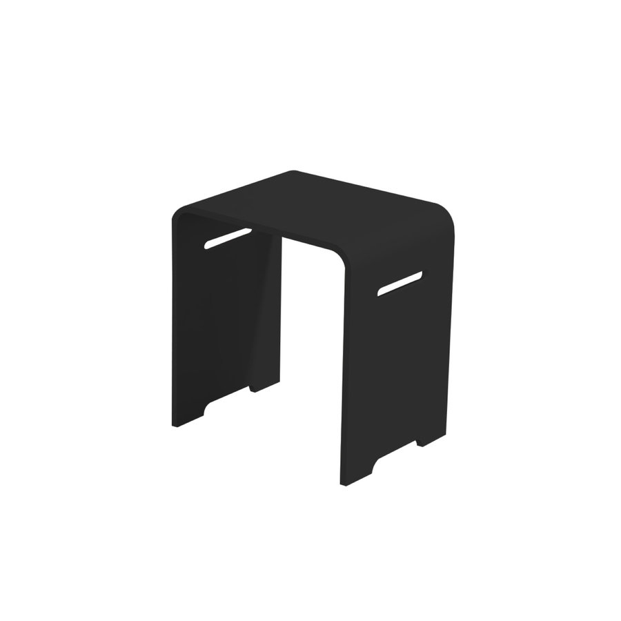 Badkamer Kruk Best Design Beauty-Black Solid Surface Zwart