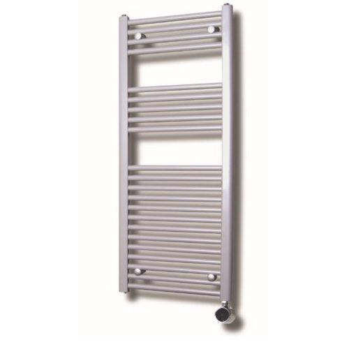 Elektrische Design Radiator Sanicare Plug En Play 111,8 x 45 cm Wit Zwart Incl Montage Set 596 Watt