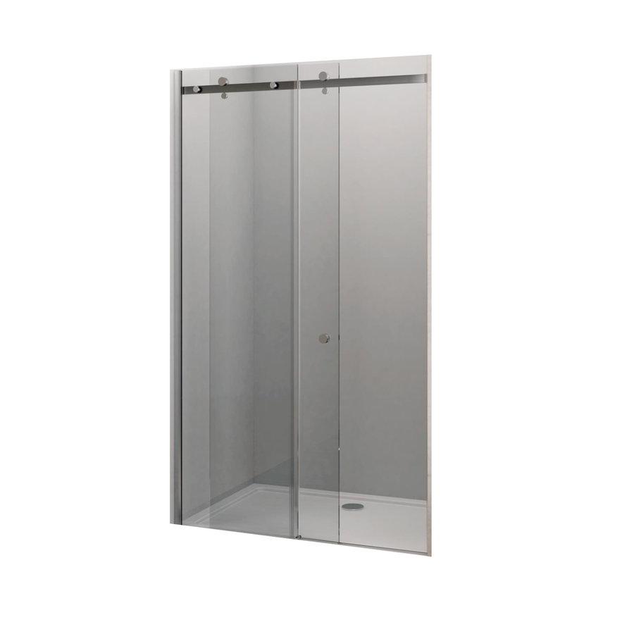 Schuifdeur Lacus Caprera 8mm Helder Glas Anti-Kalk Chroom Aluminium Profiel (alle maten)