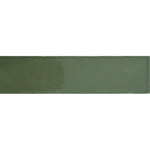 Wandtegel Tebe Vintage 7.5x30 cm Groen Brillo (Doosinhoud per M²)