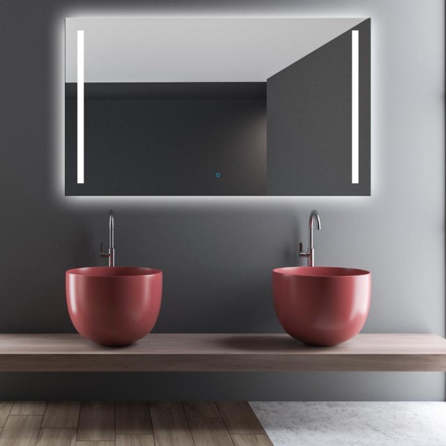 Spiegel Gliss Design Verticaal Led Standaard Dubbele LED Verlichting