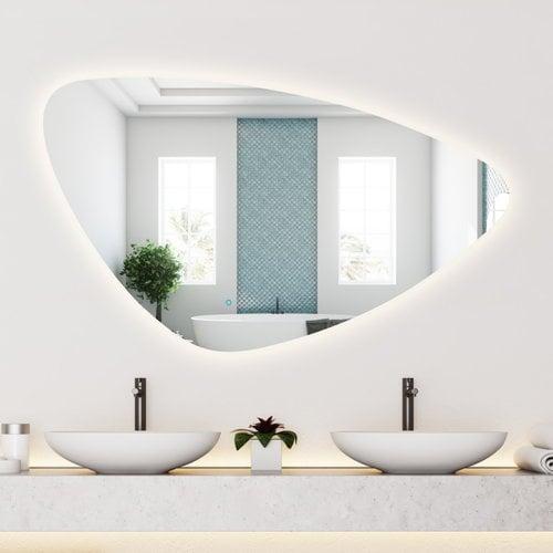 Spiegel Gliss Design Strano Organic Framework Rond Verlichting