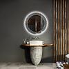 Gliss Design Spiegel Gliss Design Fantasia Rond LED Verlichting