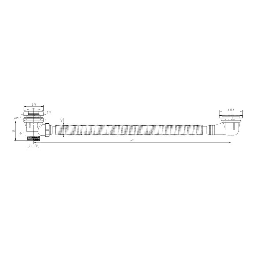Badafvoer Best Design Vazia-Lyon Overloopcombinatie Mat Rosé Goud