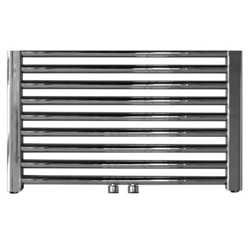 Designradiator Sanicare RVS Look Inclusief Ophanging Midden Aansluiting Recht 120x60 cm