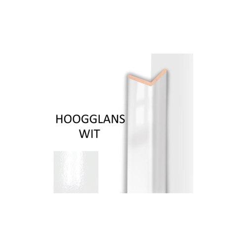 Hoeklijst MDF Sanimex Hoogglans Wit 260 cm x 28 mm x 28 mm