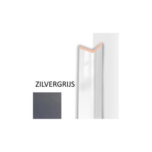 Hoeklijst MDF Sanimex Zilvergrijs 260 cm x 28 mm x 28 mm