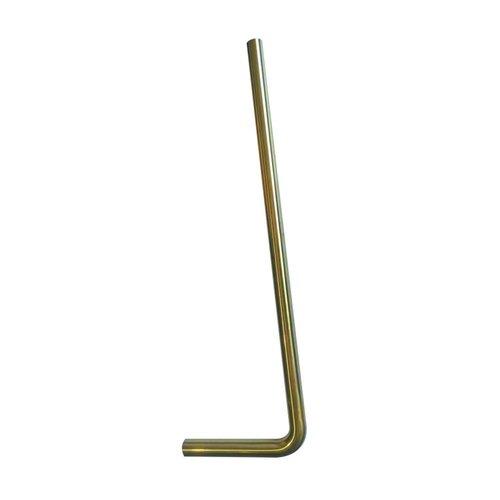 Vloerbuis Exellence 75x22 cm Geborsteld Messing Goud