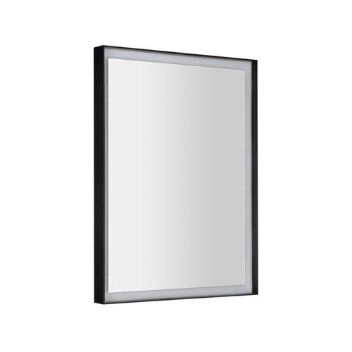 Badkamerspiegel Sapho Sort Led 60x80 cm LED-Verlichting Frame Mat Zwart