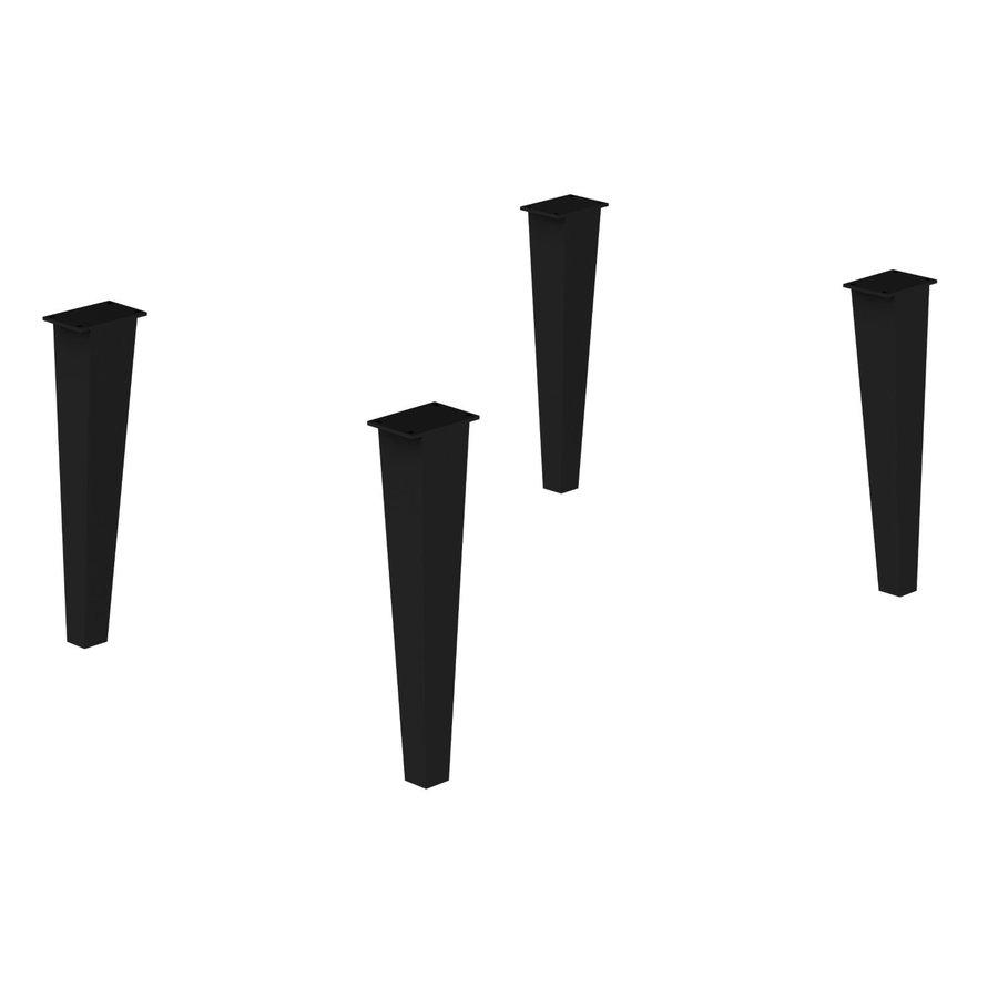 Allibert 4 Regelbare Poten Tbv Delta Badmeubelset Metaal Zwart